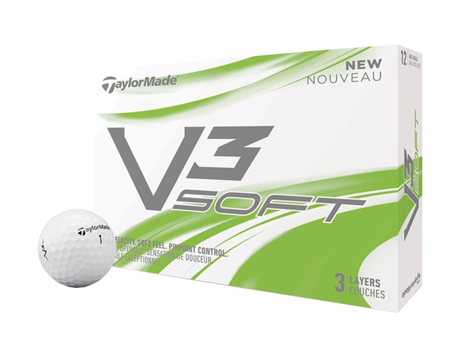 V3 Soft V3 Soft Golf Balls provide fast ball speeds for longer distance. Soft and durable Iothane™ cover for better greenside.